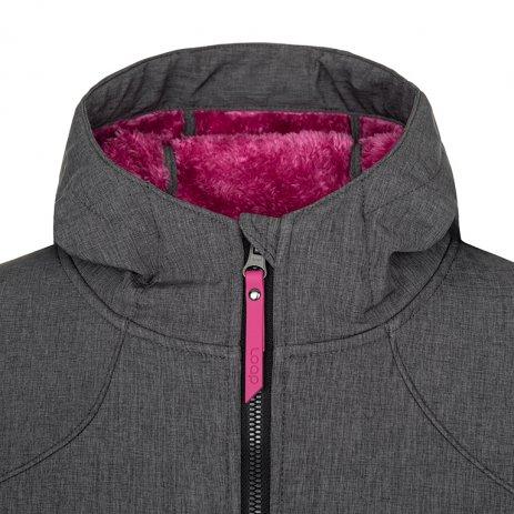 Dámský softshellový kabát LOAP LYPIAMEL SFW2013 ŠEDÁ