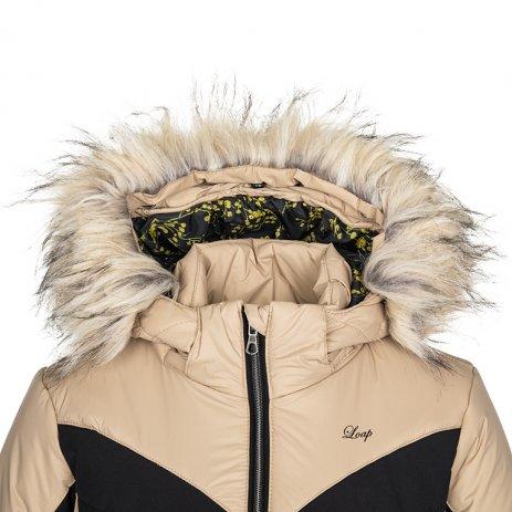 Dámská lyžařská bunda LOAP OKIRA OLW2026 ŠEDO BÉŽOVÁ