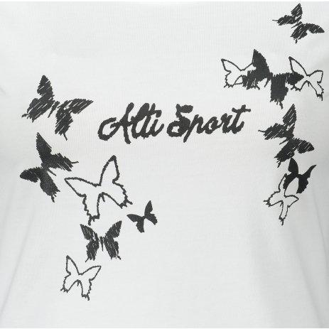 Dámské triko ALTISPORT ALW011F61 BÍLOČERNÁ