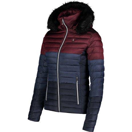 Dámská zimní bunda NORDBLANC BAR NBWJL6934 ZAPRÁŠENÁ VÍNOVÁ