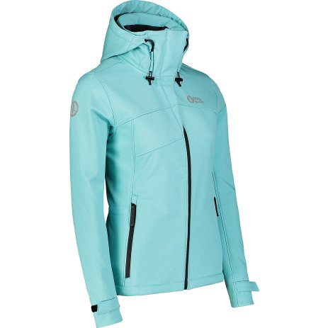 Dámská lyžařská softshellová bunda NORDBLANC DEEM NBWSL7321 SVĚTLE MODRÁ