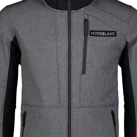 Pánská lyžařská softshellová bunda NORDBLANC STRUGGLE NBWSM7322 GRAFITOVÝ MELÍR