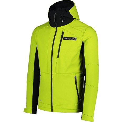 Pánská lyžařská softshellová bunda NORDBLANC STRUGGLE NBWSM7322 JASNĚ ZELENÁ