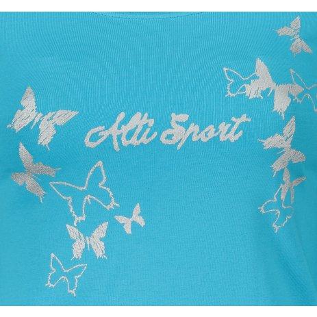 Dámské triko ALTISPORT ALW011169 TYRKYSOVÁ