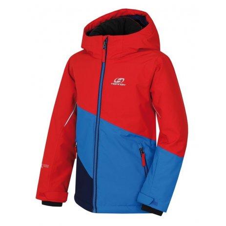 Dětská lyžařská bunda HANNAH KIGALI JR MOLTEN LAVA/DIRECTOIRE BLUE