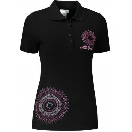 Dámské triko s límečkem ALTISPORT ALW024210 ČERNORŮŽOVÁ