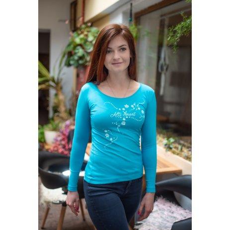 Dámské triko s dlouhým rukávem ALTISPORT ALW009169 TYRKYSOVÁ