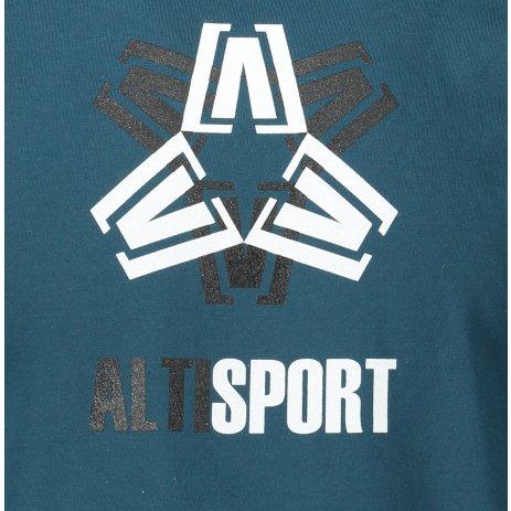 Pánské triko ALTISPORT ALM046129 PETROLEJOVÁ