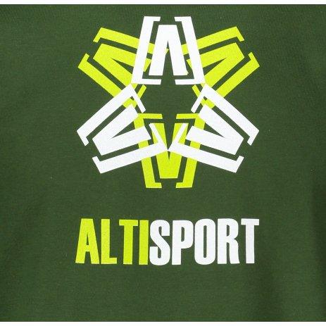 Pánské triko ALTISPORT ALM046129 LAHVOVĚ ZELENÁ