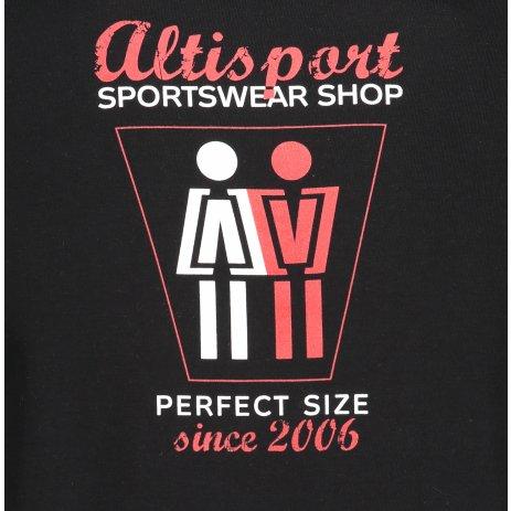 Pánské triko ALTISPORT ALM049129 ČERNÁ