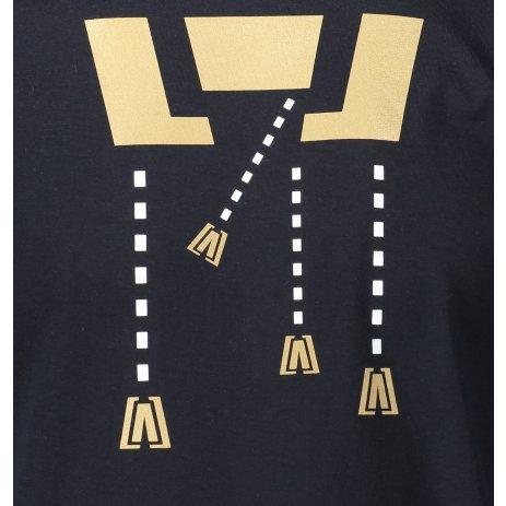 Pánské triko ALTISPORT ALM048129 NÁMOŘNÍ MODRÁ/ZLATÁ
