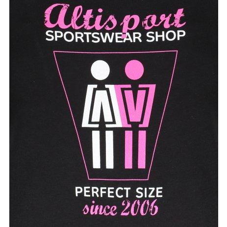 Dámské triko ALTISPORT ALW049122 ČERNORŮŽOVÁ