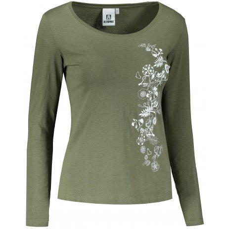 Dámské triko s dlouhým rukávem ALTISPORT ALW029169 KHAKI
