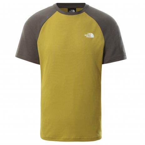Pánské funkční triko THE NORTH FACE M TANKEN RAGLAN TEE NEW TAUPE GREEN/MATCHA GREEN