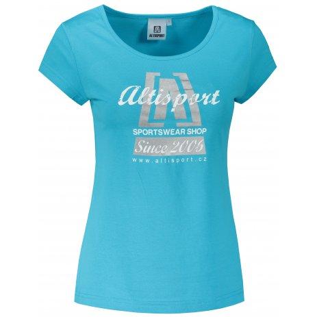 Dámské triko ALTISPORT ALW047122 TYRKYSOVÁ