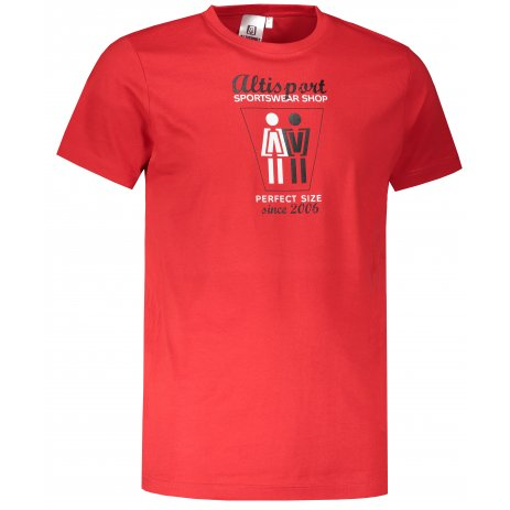 Pánské triko ALTISPORT ALM049129 ČERVENÁ