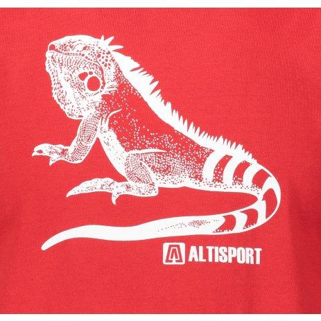Pánské triko ALTISPORT ALM038F29 ČERVENÁ