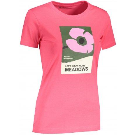 Dámské triko ALPINE PRO UNEGA 8 LTST712 RŮŽOVÁ VZOR
