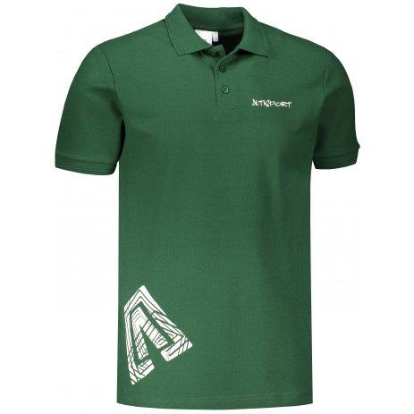 Pánské triko s límečkem ALTISPORT ALM013203 LAHVOVĚ ZELENÁ