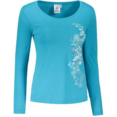 Dámské triko s dlouhým rukávem ALTISPORT ALW029169 TYRKYSOVÁ