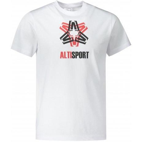 Pánské triko ALTISPORT ALM046129 BÍLÁ