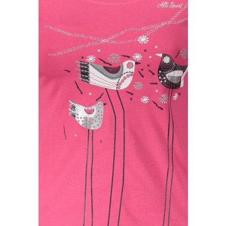 Dámské triko s dlouhým rukávem ALTISPORT ALW043169 PURPUROVÁ