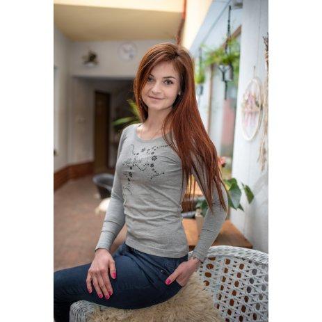 Dámské triko s dlouhým rukávem ALTISPORT ALW009169 TMAVĚ ŠEDÝ MELÍR