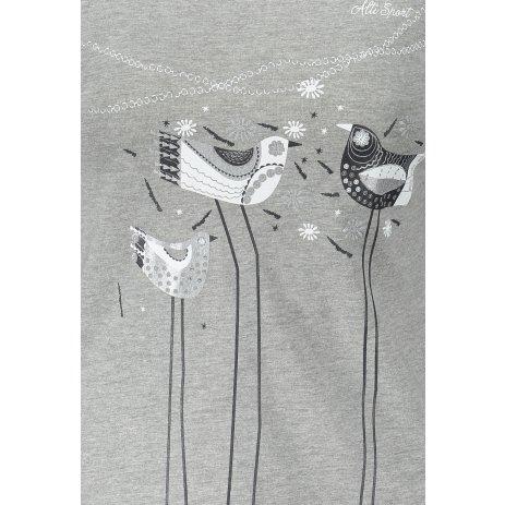 Dámské triko s dlouhým rukávem ALTISPORT ALW043169 TMAVĚ ŠEDÝ MELÍR