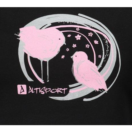 Dámské triko ALTISPORT ALW050122 ČERNORŮŽOVÁ