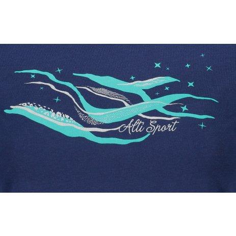 Dámské triko ALTISPORT ALW054122 PŮLNOČNÍ MODRÁ