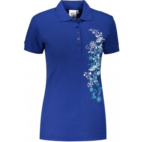 Dámské triko s límečkem ALTISPORT ALW029210 KRÁLOVSKÁ MODRÁ
