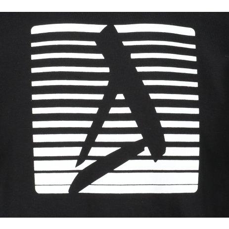 Pánské triko ALTISPORT ALM039129 ČERNOBÍLÁ