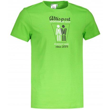 Pánské triko ALTISPORT ALM049129 APPLE GREEN