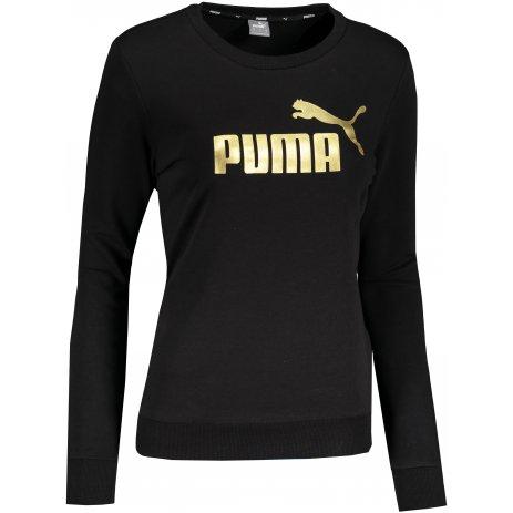 Dámská mikina PUMA ESS METALLIC LOGO CREW TR PUMA BLACK/GOLD