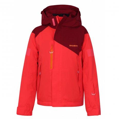 Dětská zimní bunda HUSKY GONZAL K NEONOVĚ RŮŽOVÁ