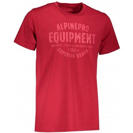 Pánské triko ALPINE PRO CAUDER MTST659 ČERVENÁ