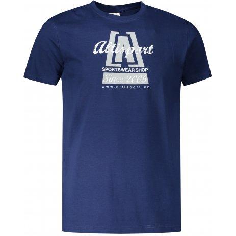 Pánské triko ALTISPORT ALM047129 PŮLNOČNÍ MODRÁ