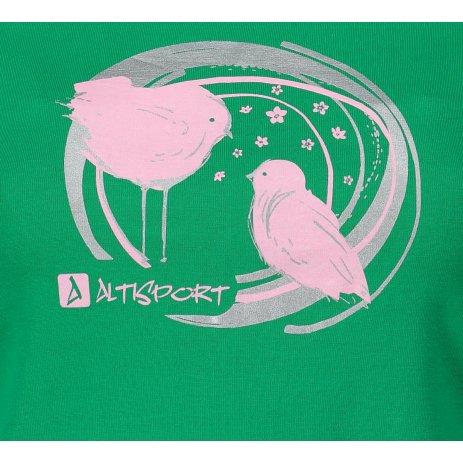 Dámské triko ALTISPORT ALW050122 STŘEDNĚ ZELENÁ