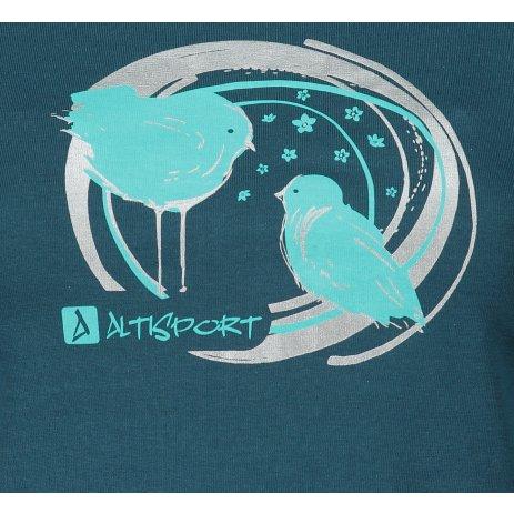 Dámské triko ALTISPORT ALW050122 PETROLEJOVÁ