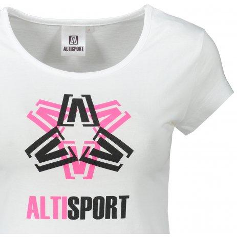 Dámské triko ALTISPORT ALW046122 BÍLÁ