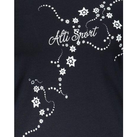 Dámské triko s dlouhým rukávem ALTISPORT ALW009169 NÁMOŘNÍ MODRÁ