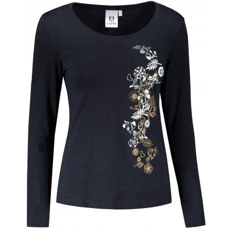 Dámské triko s dlouhým rukávem ALTISPORT ALW029169 NÁMOŘNÍ MODRÁ/ZLATÁ