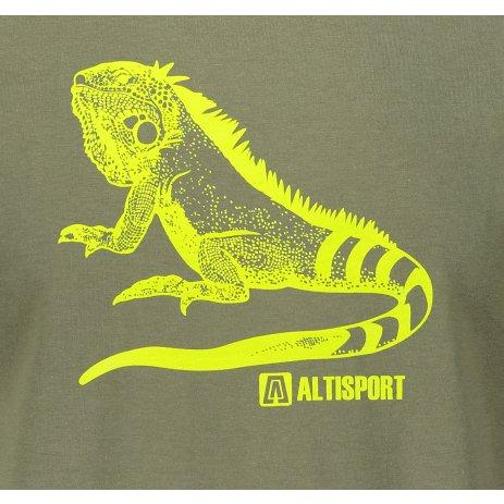 Pánské triko ALTISPORT ALM038F29 KHAKI