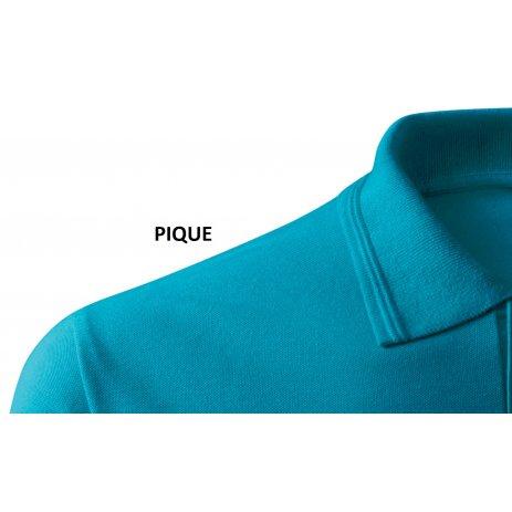 Dámské triko s límečkem ALTISPORT ALW029210 TMAVÝ TYRKYS