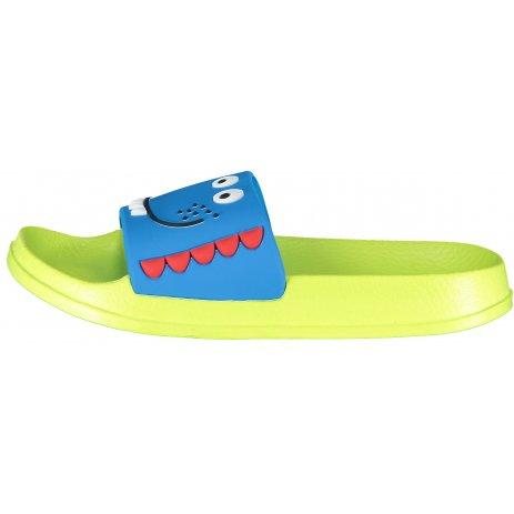 Dětské boty ALPINE PRO AKOTO KBTT290 SVÍTIVĚ ZELENÁ