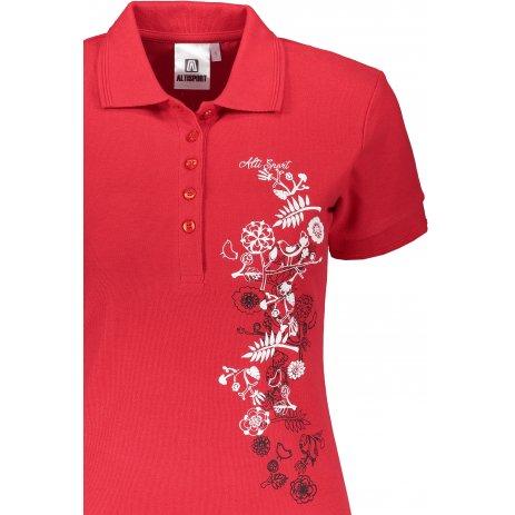 Dámské triko s límečkem ALTISPORT ALW029210 ČERVENÁ