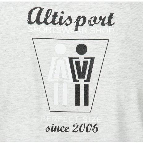 Pánské triko ALTISPORT ALM049129 SVĚTLE ŠEDÝ MELÍR