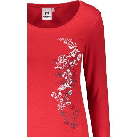 Dámské triko s dlouhým rukávem ALTISPORT ALW029169 ČERVENÁ