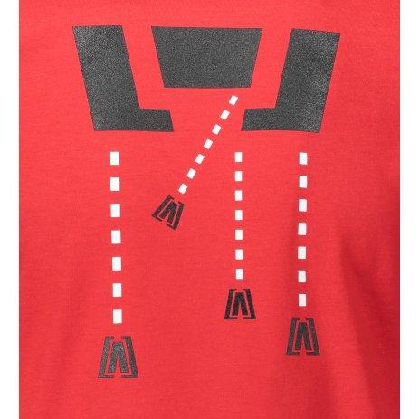 Pánské triko ALTISPORT ALM048129 ČERVENÁ