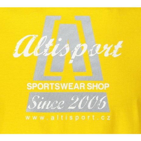 Pánské triko ALTISPORT ALM047129 ŽLUTÁ
